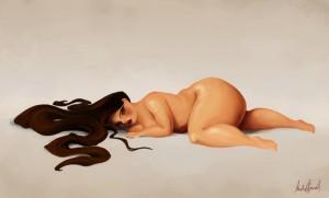 gordinha deitada