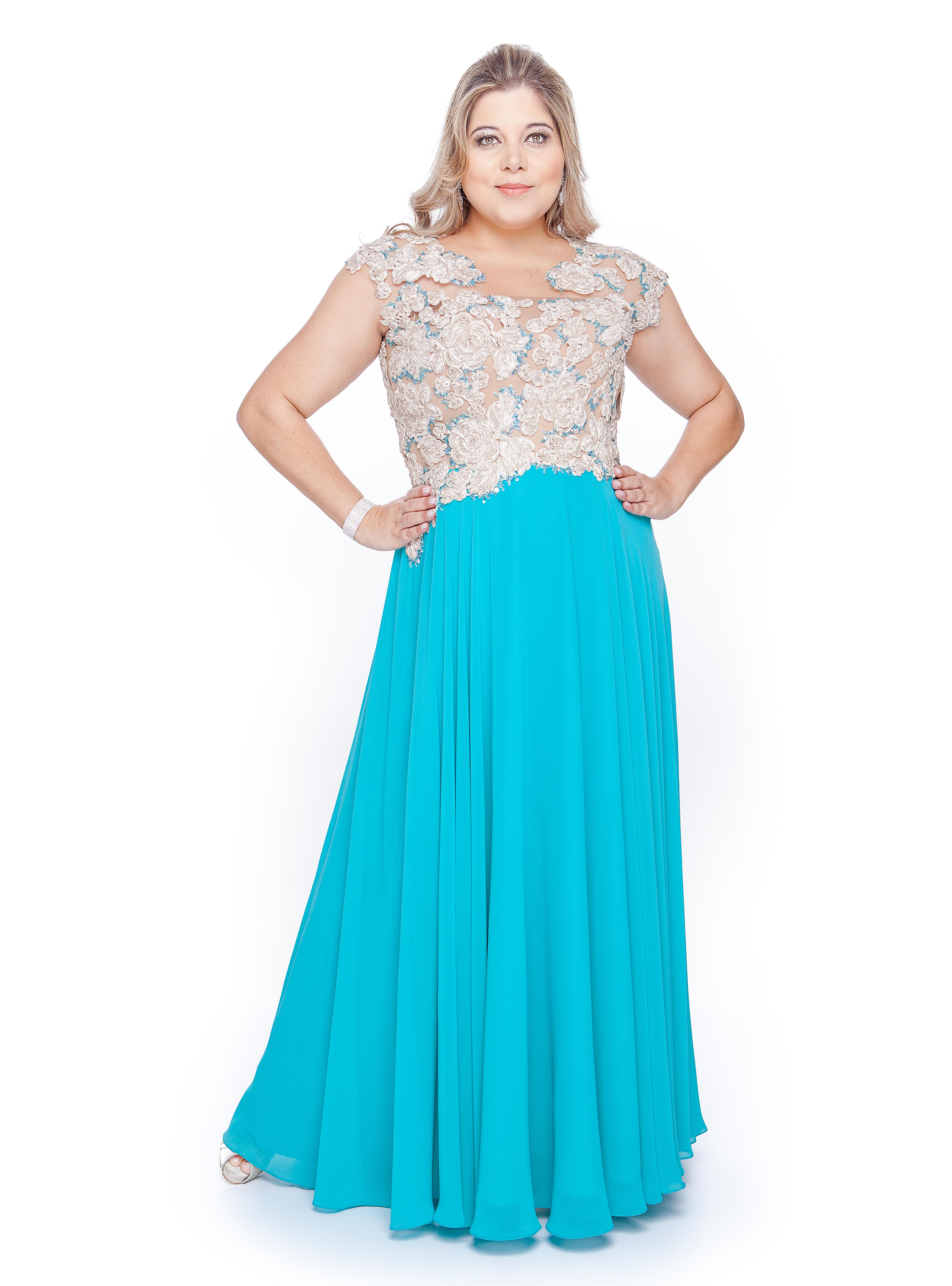 Vestido de festa plus size - Suely Caliman - Blog Mulherão
