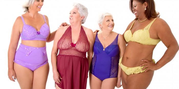 senhoras plus size de lingerie