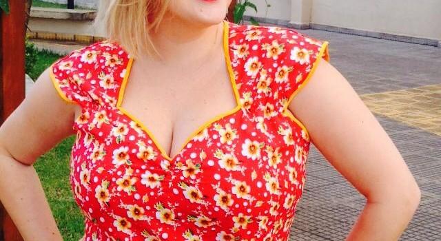 Vestido pin up plus size 2