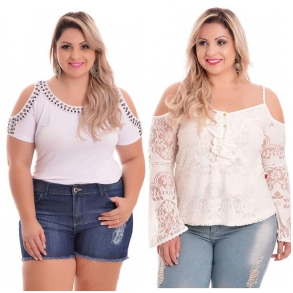 blusa plus size branca 2