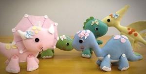 dinossauros em feltro