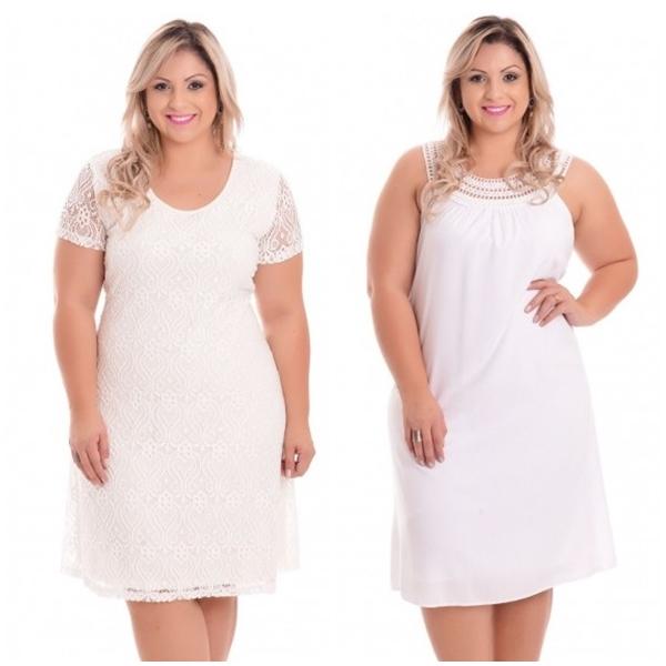 vestido branco plus size 4