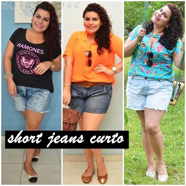 short jeans curto plus size