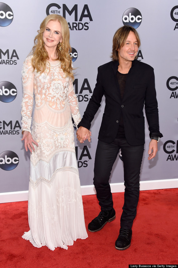 NASHVILLE, TN - NOVEMBER 05: Nicole Kidman and Keith Urban attend the 48th annual CMA Awards at the Bridgestone Arena on November 5, 2014 in Nashville, Tennessee. (Photo by Larry Busacca/Getty Images)