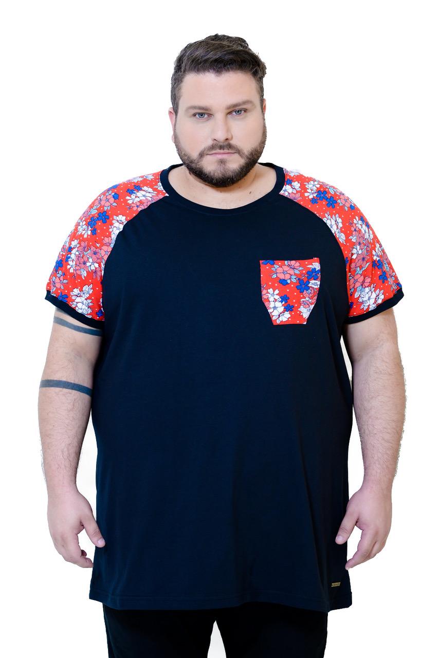 camiseta-plus-size-masculina-manga-florida-cazaco-blog-mulherao