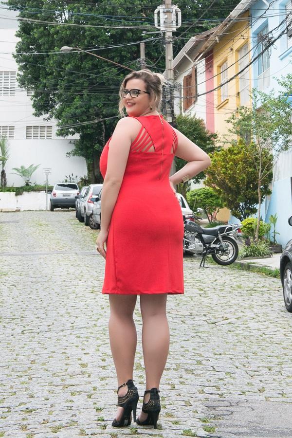 vestido plus size tuboinho vermelho renata poskus elegnace plus size blog mulherao