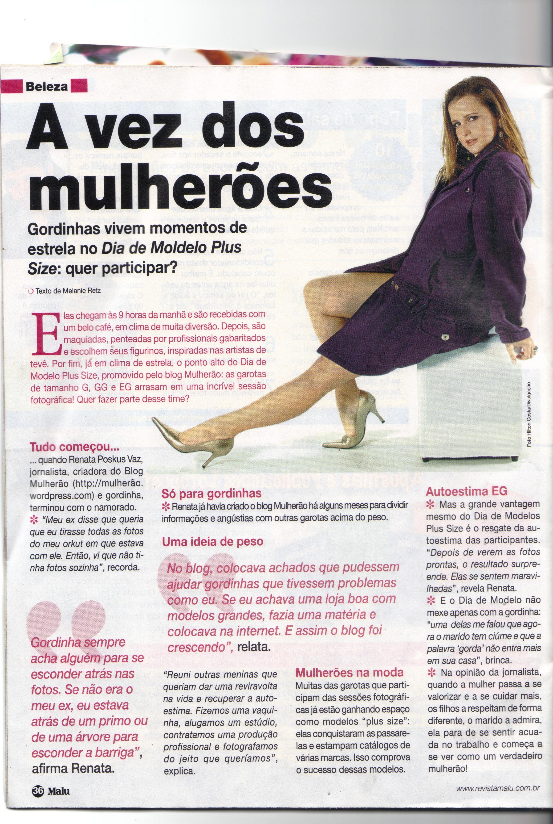 Tags  blog mulherão, Dia de Modelo, renata poskus vaz, revista malu 849c5bf0e3