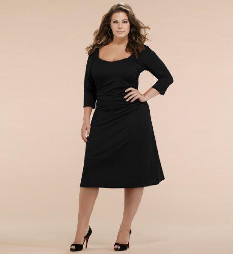 vestido preto plus size 3