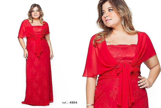 vestido de festa plus size 3