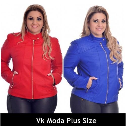 jaqueta de couro plus size 1