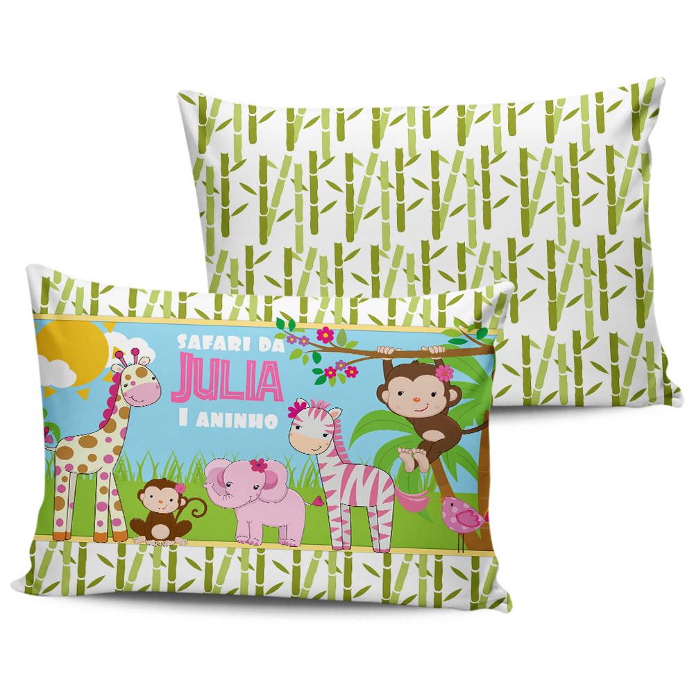 almofada personalizada safari