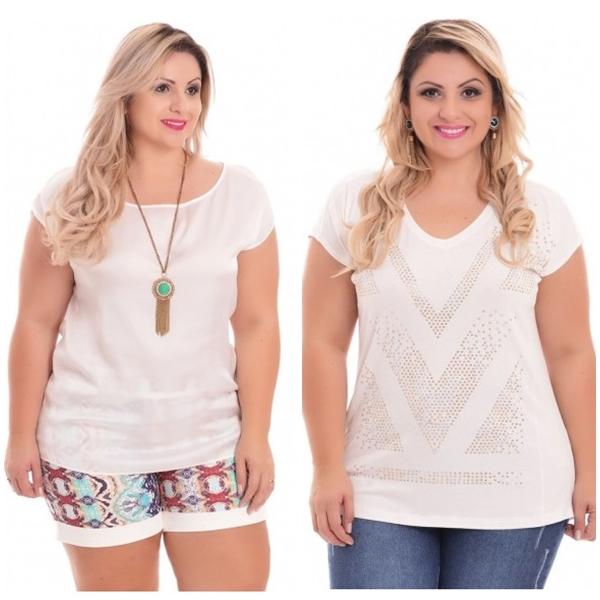 blusa plus size branca 3