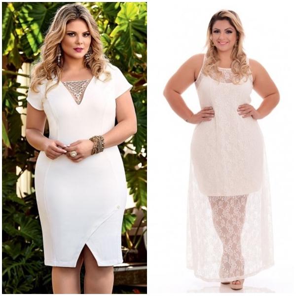 vestido branco plus size 1