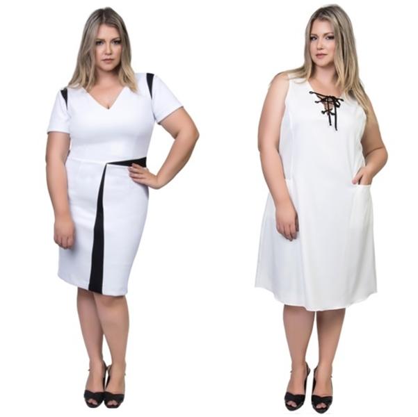 vestido plus size branco 1