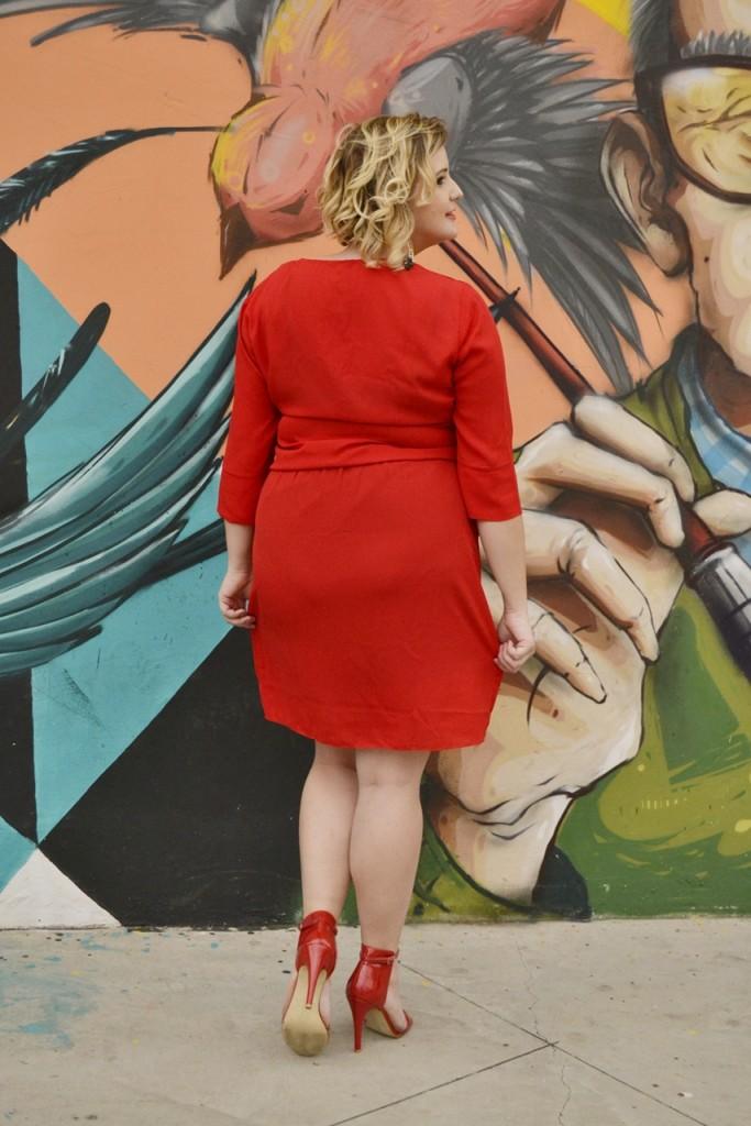 vestido vermelho plus size 3