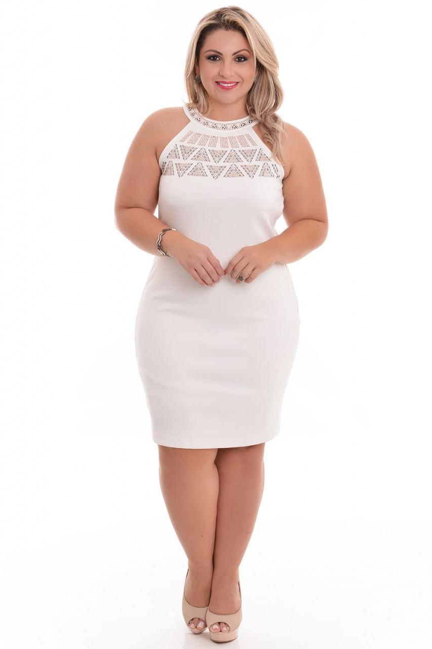 2768166ed Vestido plus size branco para o Ano Novo - Blog Mulherão
