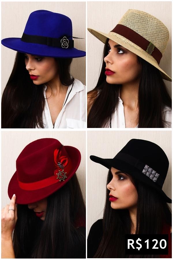 Chapéus femininos e masculinos estilosos a partir de R 10 - Blog ... 7bfa78e4cc4