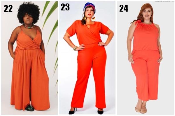 ae7e41825 Ter um macacão plus size cor de laranja para chamar de seu é estar na moda  no frio ou no calor, faça chuva ou faça sol.